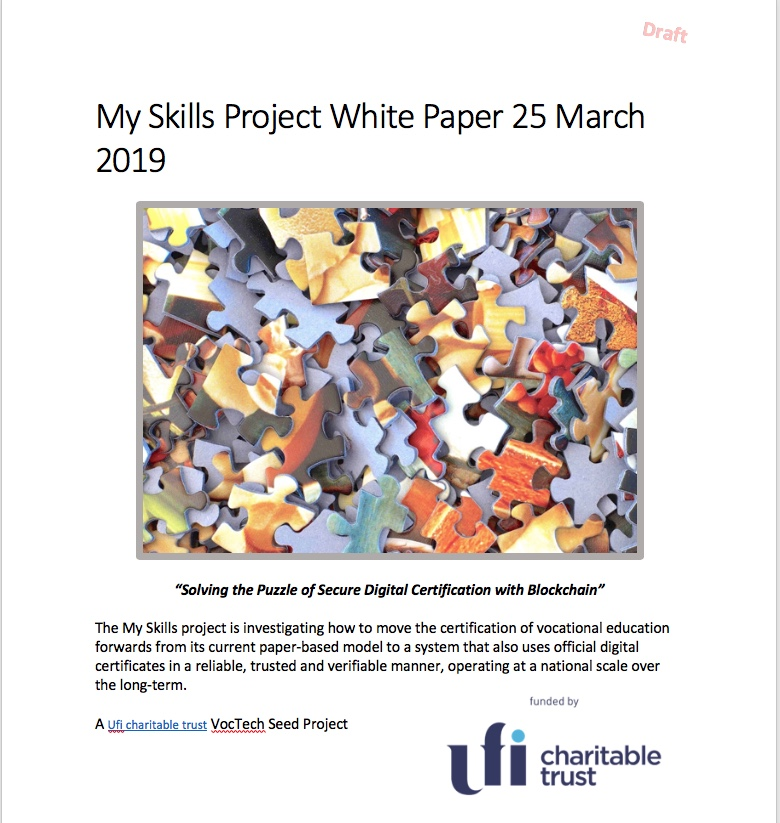 My Skills White Paper Cover